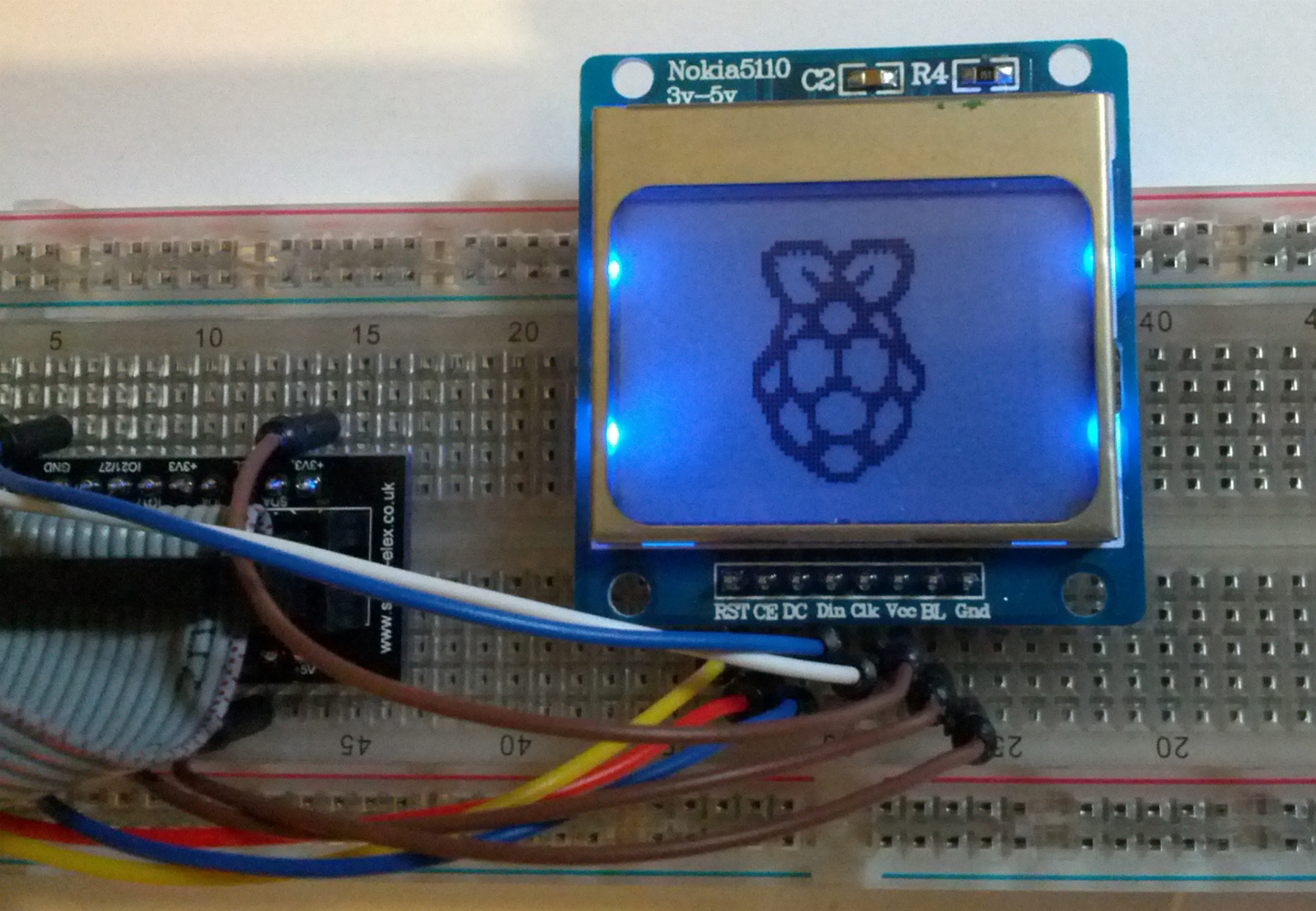 Lcd Display With Raspberry Pi Wiringpi Python Module If You Dont See Anything Or Only The Backlight Is On Try Reconnecting Pins I Myself Did Few Mistakes Wiring Before Got It Working