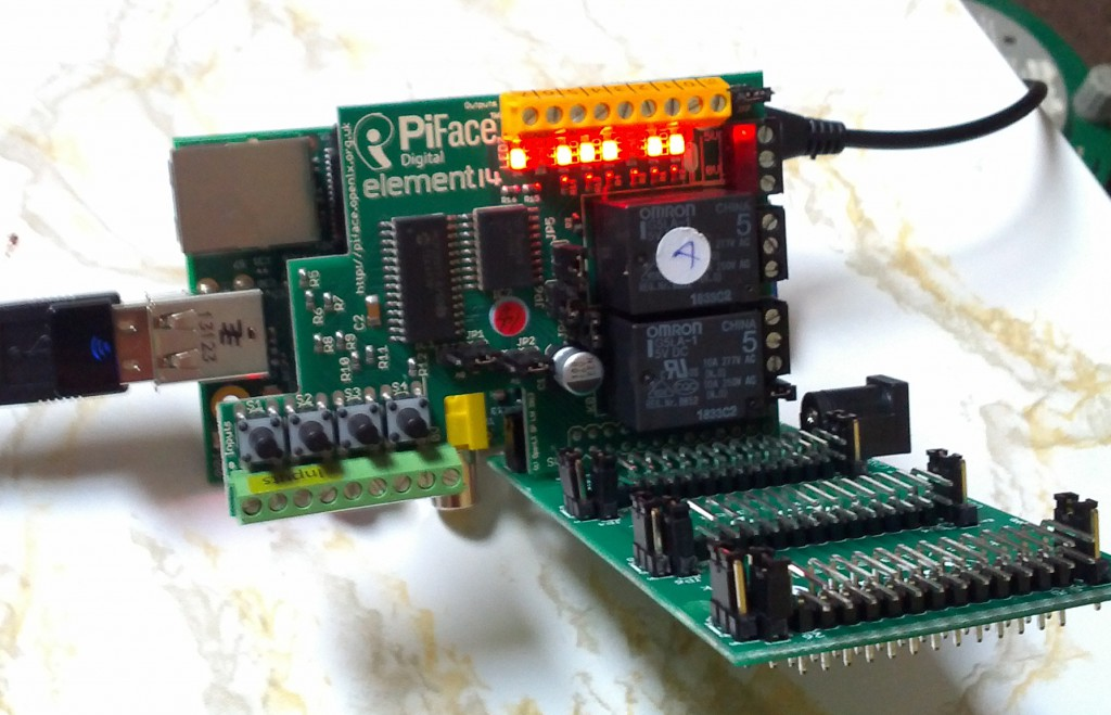 Working PiFace on a PiRack