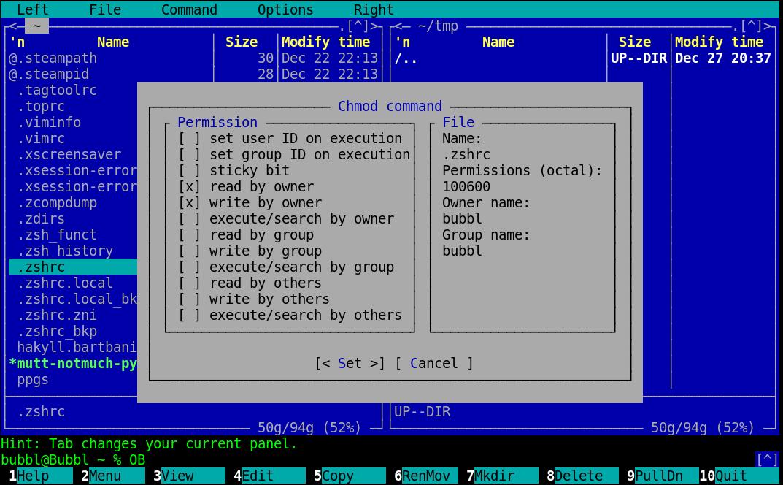 mac insert key midnight commander