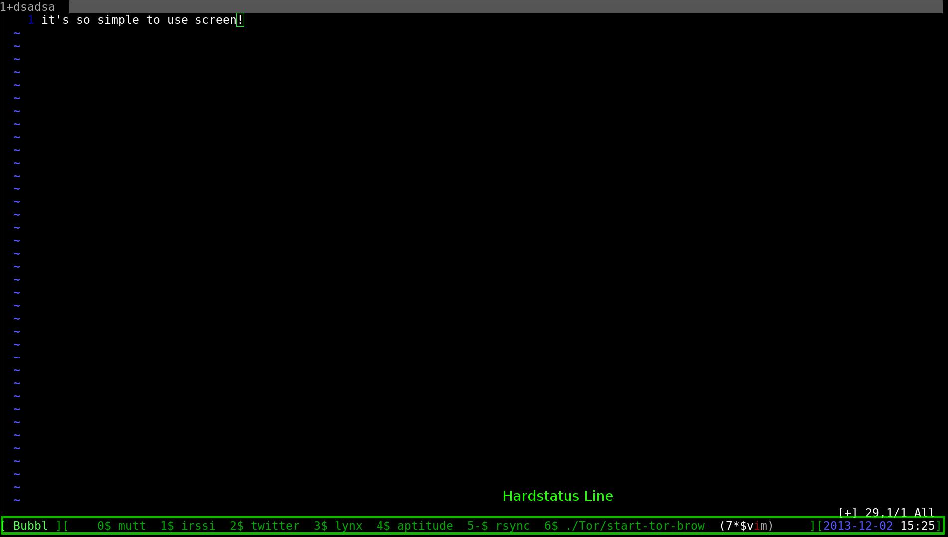 screen hardstatus