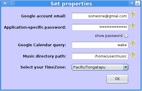 Properties Screen