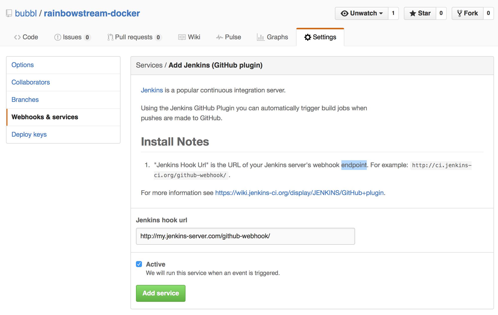 Jenkins, Github, Docker and peace of mind